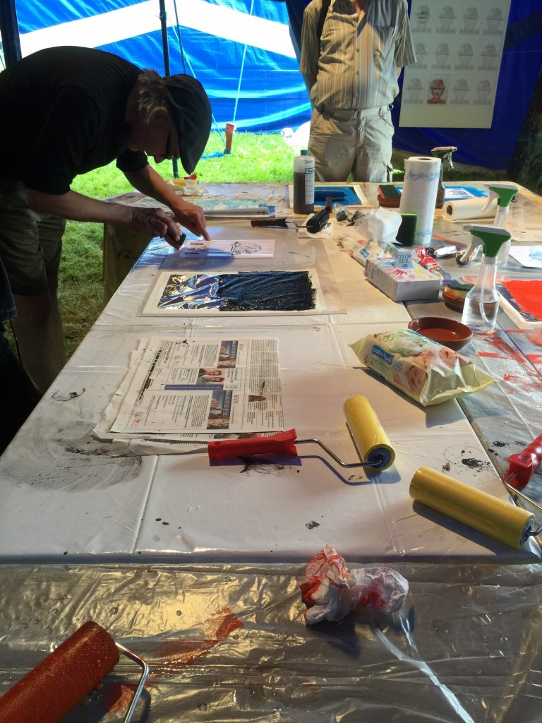 Workshop at Art in the Park 2015